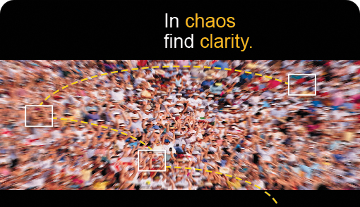 In chaos find clarity.