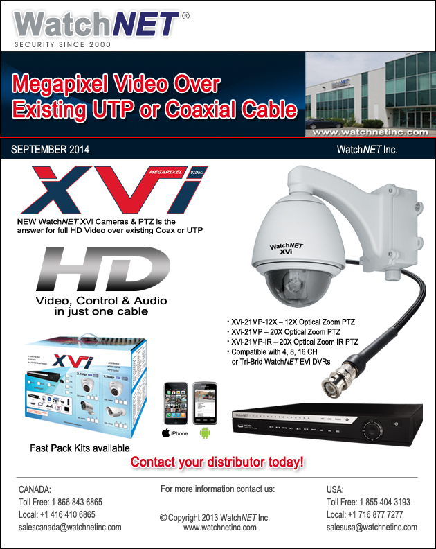 WatchNET NEW XVi Video Over Coax/UTP