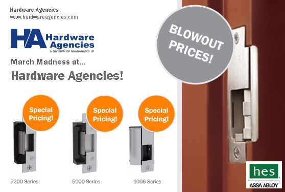 Hardware Agencies is offering a striking deal on select HES products!